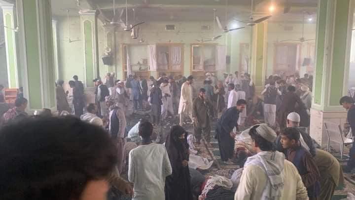انفجار در داخل یک مسجد در قندهار. عکس: رسانههای اجتماعی