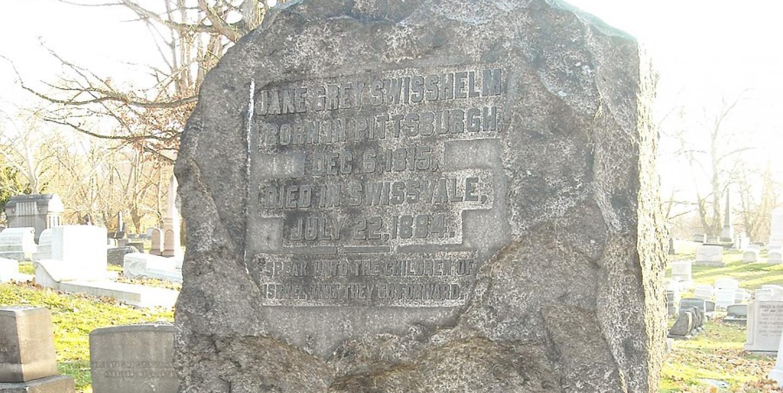 سنگ قبر جین کانن سویسهلم. منبع عکس: https://ijnet.org/fa/story